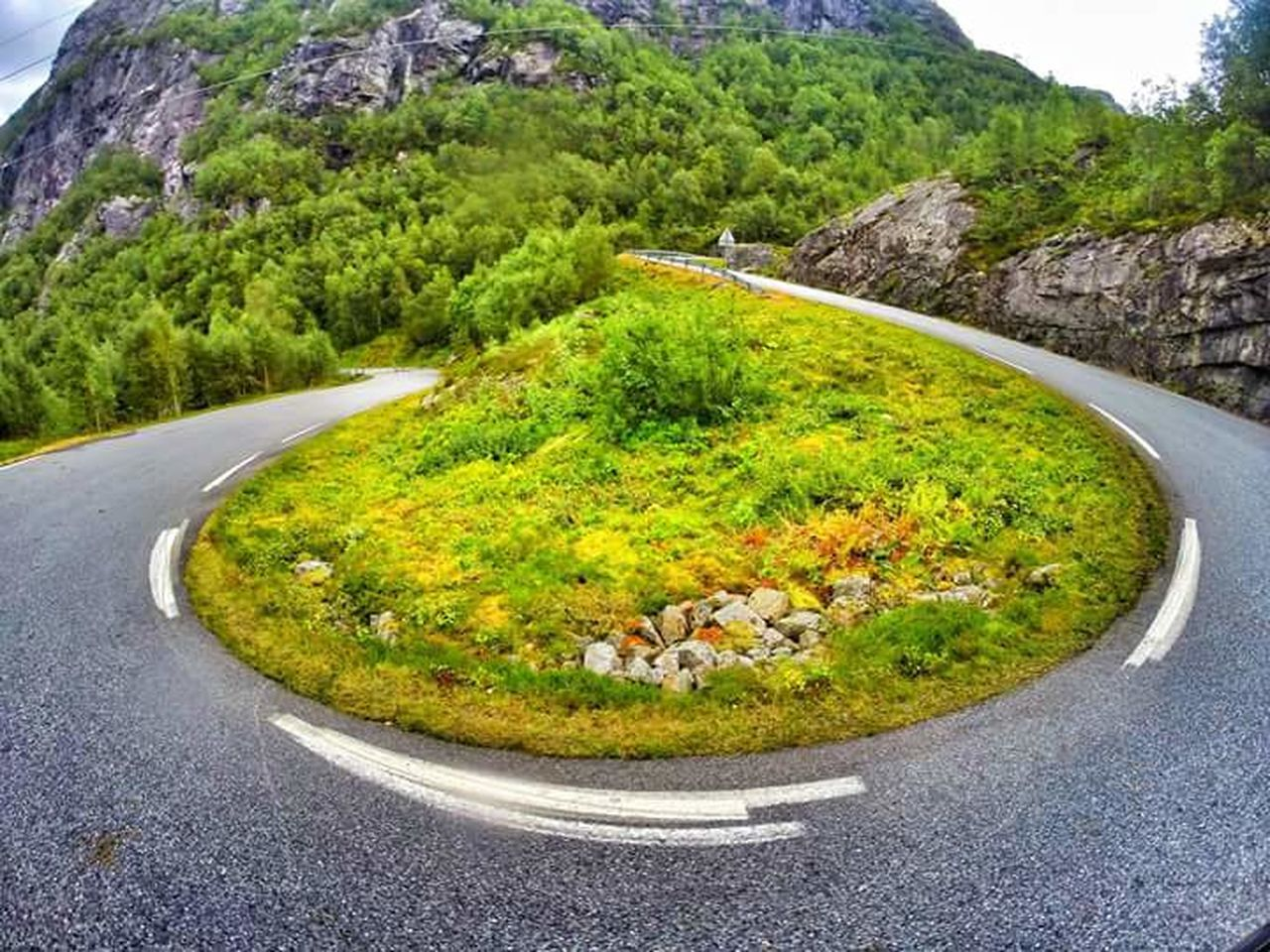 Green Color Road Traffic Circle Outdoors Scenics Landscape Winding Road Norway Norge Lysebotn Lysefjord Road Gopro Eyemphotography Travel Photography Aroundtheworld Traveladdict Goprophotography Roadscenes Roadsidephotography Tourism