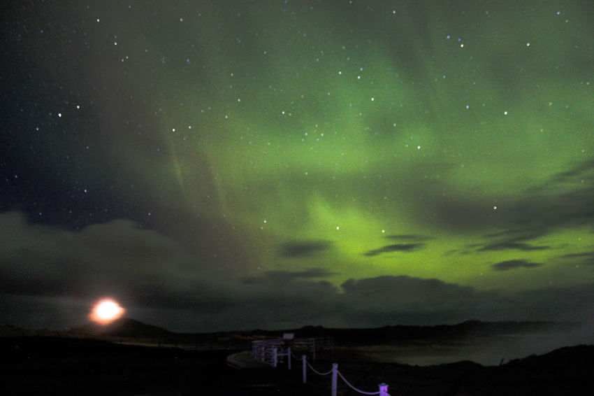 Star - Space Scenics Sky Beauty In Nature Night Nature Astronomy Green Color Aurora Polaris Space And Astronomy Tranquility Space Dramatic Sky Tree Outdoors No People Tranquil Scene Landscape Galaxy Milky Way Nothernlights Amazing Place Showcase October 2016 Natural Phenomenon Reykjavik
