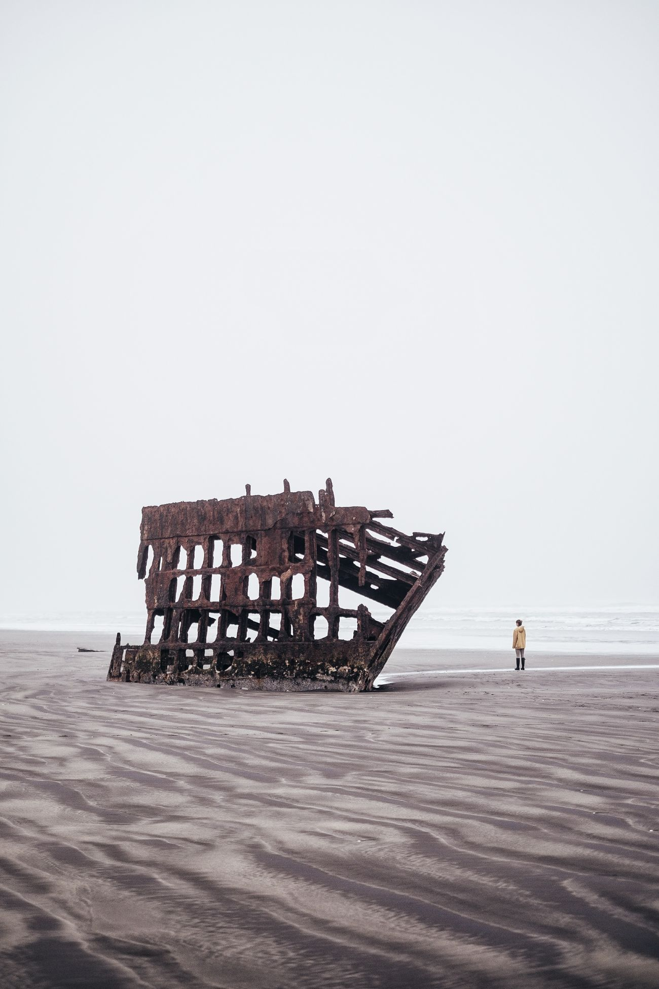 Tidal Beach Sea Real People Full Length Beauty In Nature Shipwreck Peter Iredale Sand Low Tide Adventure PNW Oregon Outdoors Travel Tourism Tranquility Tranquil Scene Coast