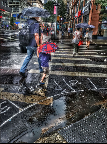Family Crossing 17th St. - 9/1/16 EyeEm StreetPhotography, NYC Fresh On Market August 2016 IPhone Creative Edits W/ Snapseed Malephotographerofthemonth The Journey Is The Destination
