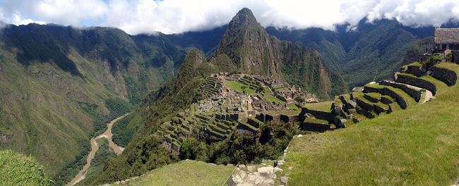 The ever gorgeous Machu Picchu in Peru. Photo taken with an iPhone 4s. Beauty In Nature Day Growth Landscape Mountain Nature No People Outdoors Panorama Panoramic Panoramic Photography Panoramic View Sky Tree