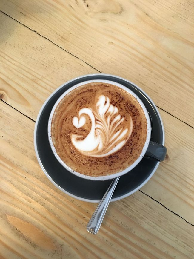 Coffee - Drink Coffee Cup Cappuccino Drink Froth Art Refreshment Frothy Drink Creativity Latte Table Food And Drink Heart Shape Wood - Material Pattern No People Indoors  Froth Mocha Close-up Freshness Date Stalbans Wood Coffee Breakfast