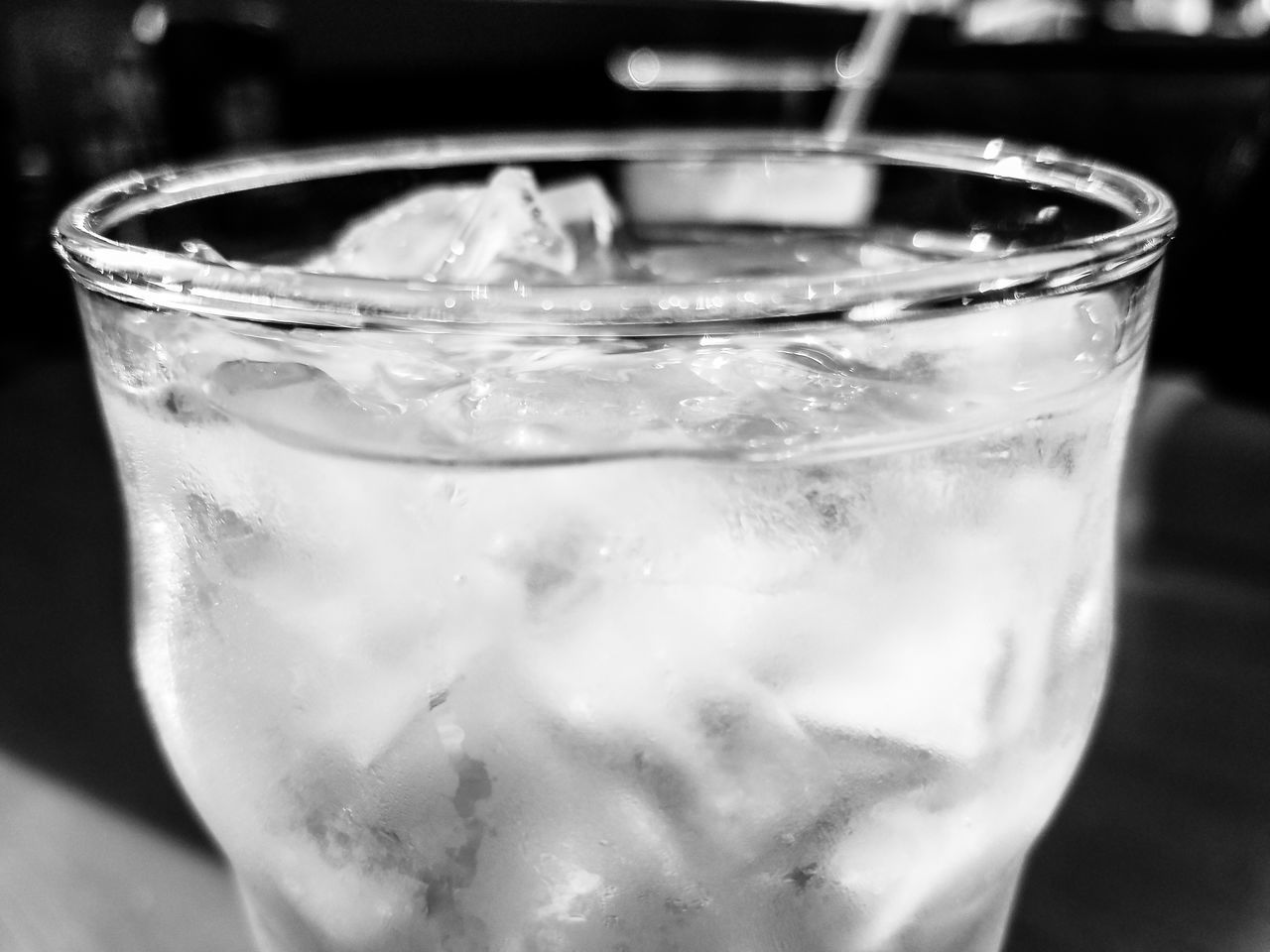 hungry in the morning Black And White Close-up Cold Temperature Day Drink Drinking Glass Food And Drink Freshness Ice Ice Cube Indoors  No People Refreshment Water
