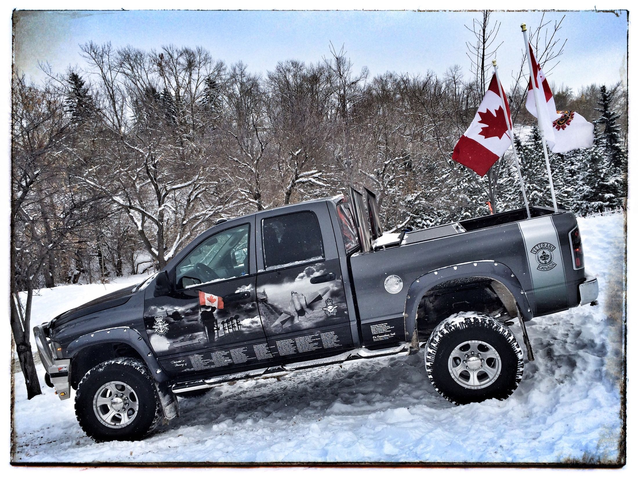 Veterans 4X4 in support of our soldiers. Remembrance Photography Iphone 5 Truck