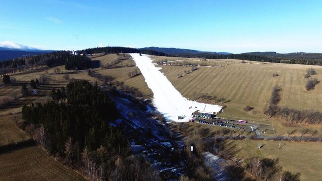 An aerial view of Annaberg, this year my everyday fun. Annaberg Winter Without Snow Fun DJI Phantom 3 Advanced
