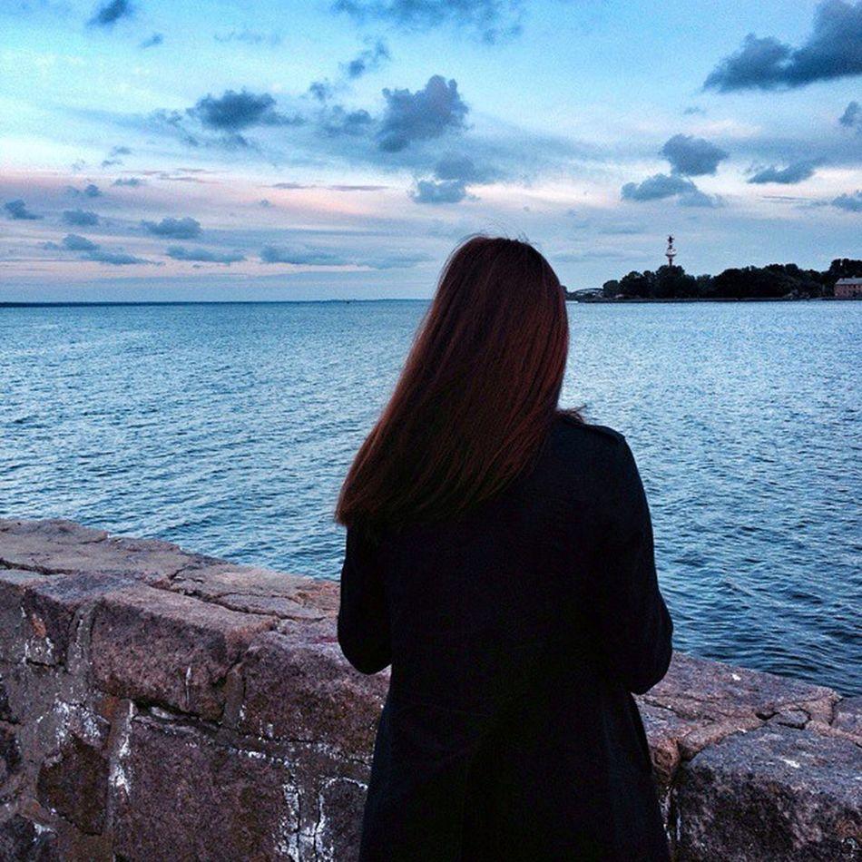 Мегокрасота облока Море Природа жду_любимого