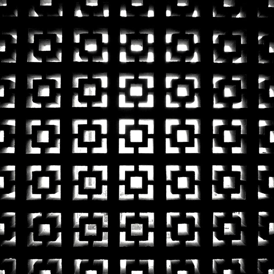 Abstract Backgrounds Blackandwhite Close-up Contrast Day Full Frame Geometric Shape Geometry Metal Grate No People Outdoors Pattern Pixelated Repetition Seamless Pattern Technology Textured  Welcome To Black