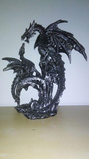 Dragon Baby Dragon Decoration Déco Statuette Baby Mom Fire Dragon Medieval Gothic Goth Black