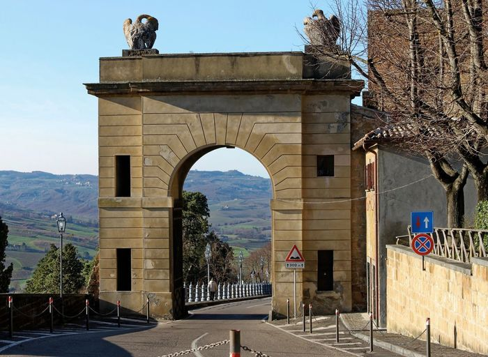 Orvieto, Italy Travel Travel Photography Traveling Arch Architecture Building Exterior Built Structure Clear Sky Day Hill Towns History Italian Italy Mountain No People Orvieto Outdoors Sky Travel Destinations Tree Triumphal Arch