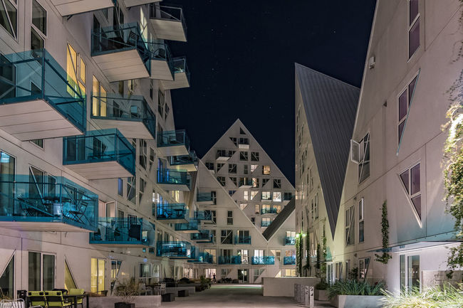 Isbjerget Aarhus In The Night Architecture Building Exterior Building Story Built Structure City City Life Denmark Exterior Isbjerget Aarhus Modern No People Northsea Office Building Outdoors Residential Building Residential District Residential Structure Sky Tall Tall - High Town
