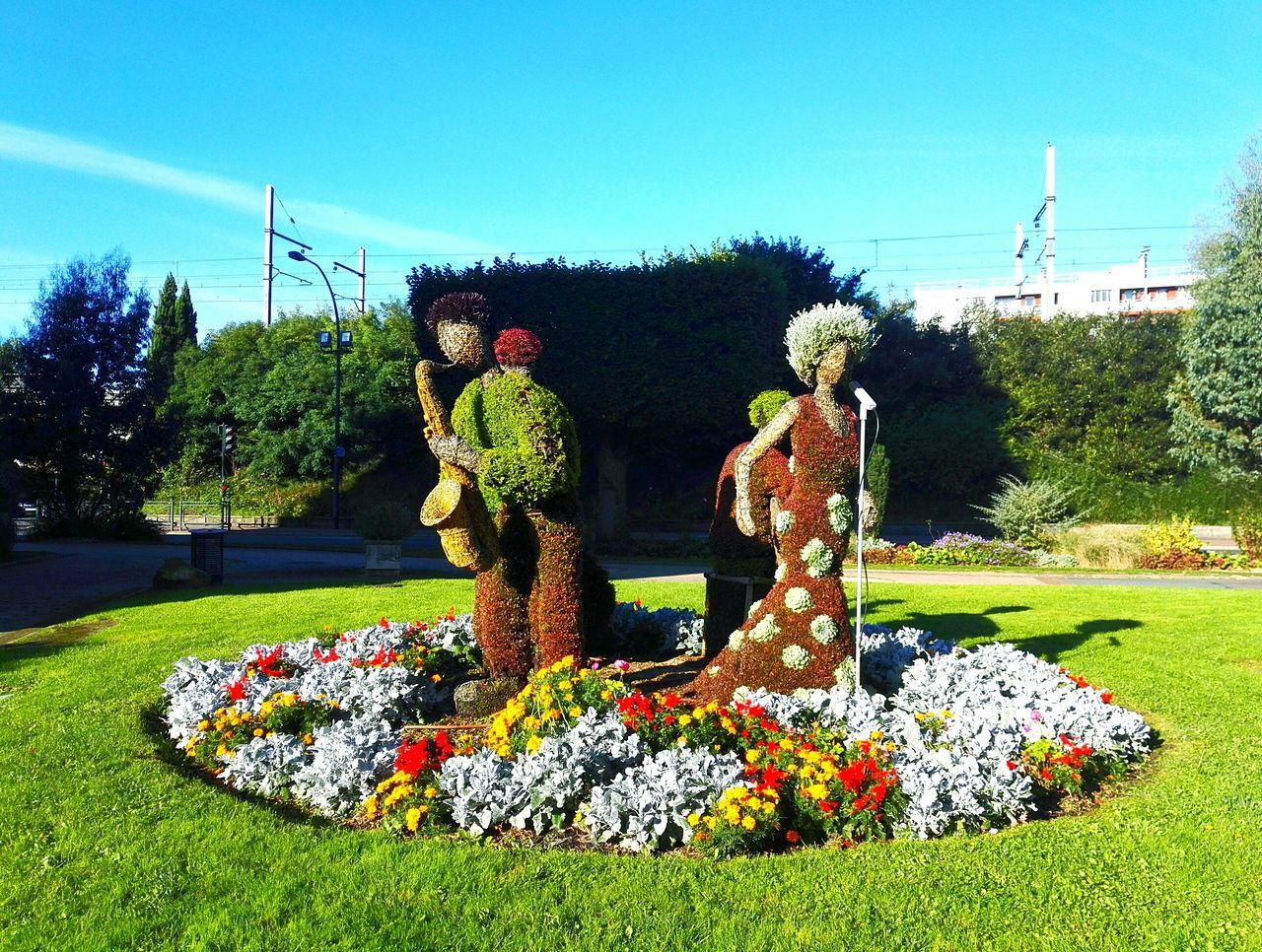 Multi Colored Art Art And Craft Flower Plant Growth Creativity Formal Garden Bouquet Decoration Park - Man Made Space Green Color Nature Day Colorful Freshness Garden No People