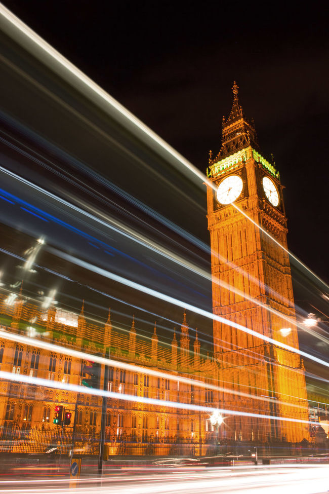 Architecture Famous Place Illuminated International Landmark Long Exposure Low Angle View Speed Trailing