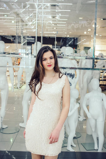 Adult Adults Only Bridal Shop Business Business Finance And Industry Clothing Store Confidence  Consumerism Day Fashion Indoors  Looking At Camera One Person One Woman Only One Young Woman Only Only Women People Portrait Retail  Smiling Standing Store Women Young Adult