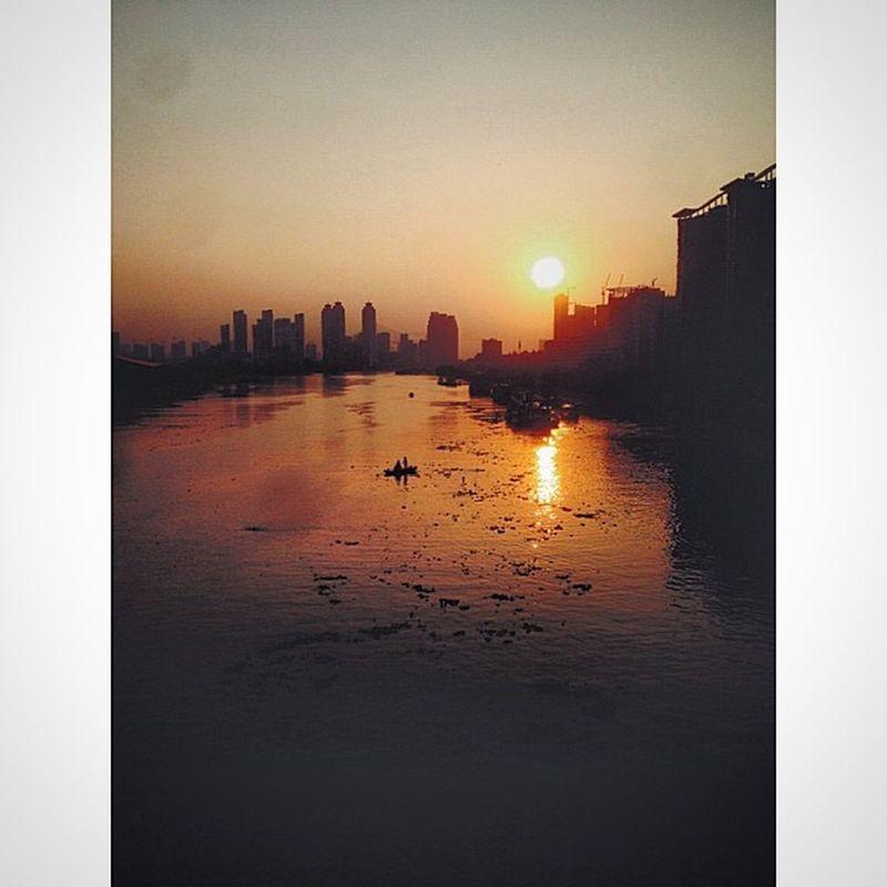 武汉 Wuhan 汉江 夕阳