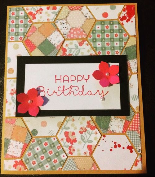 Craft Papercraft Card Birthdaycard Art Creativity Hexagon Geometric Shapes Communication Greetings Birthday Art And Craft Message Multi Colored Create Make Madebyme
