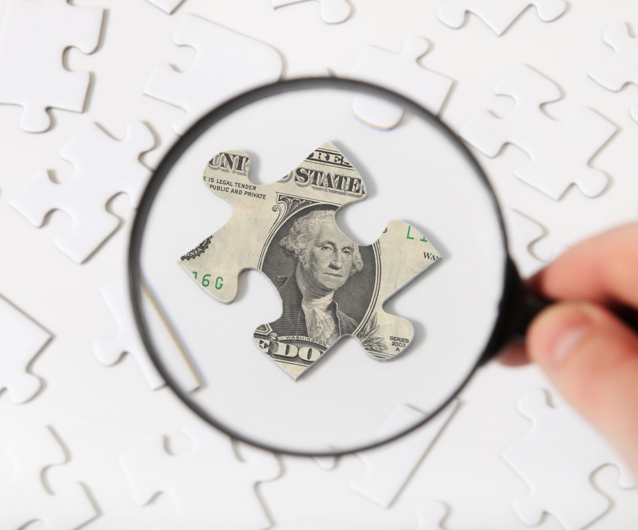 Beautiful stock photos of puzzle, American Culture, American One Dollar Bill, Banking, Close-Up