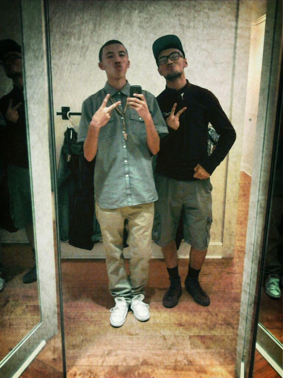 My Cousin & I Thinking We Cute Haha