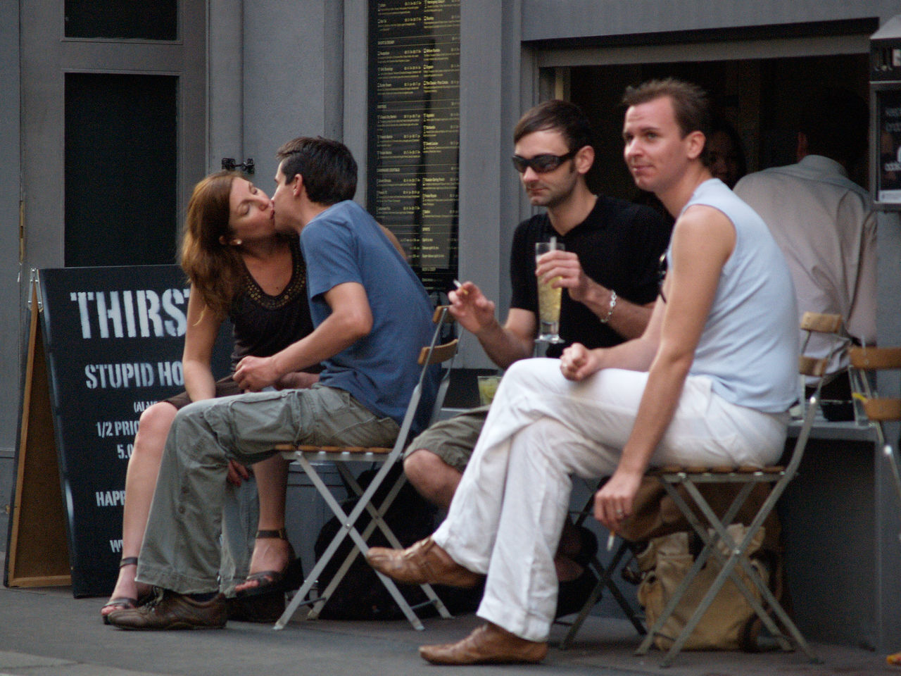 sitting, young men, young adult, togetherness, men, group of people, young women, friendship, day, outdoors, people, adult