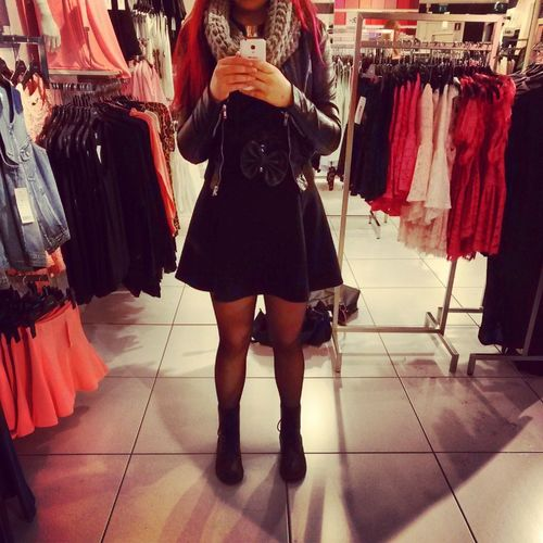 Out shopping with a friend today! ^-^ Shopping Mirror Outfit Clothing