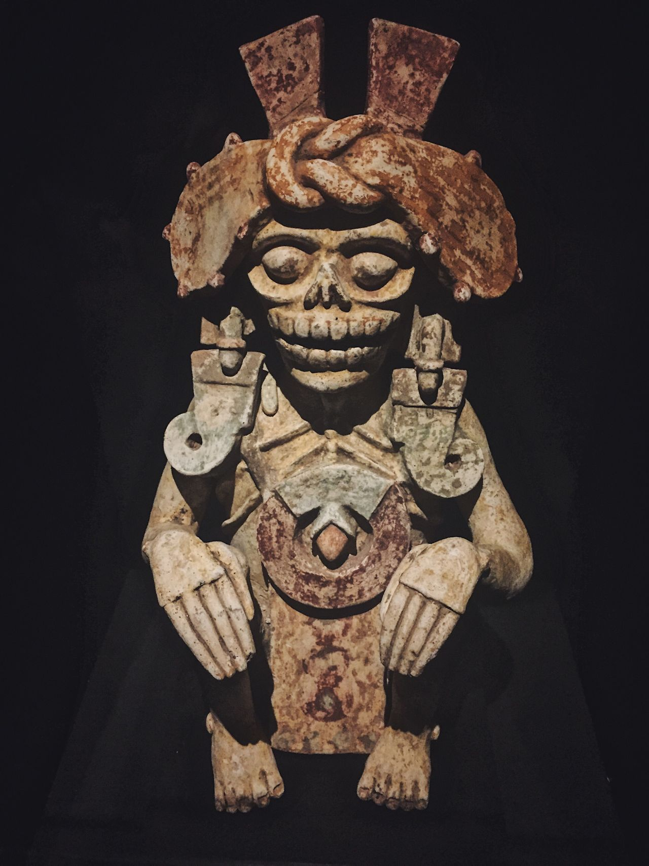 Skeletal relic Art And Craft No People Close-up Indoors  Black Background Day Mayanculture Eyeem Market EyeEmNewHere EyeEm Best Shots ScienceMuseum