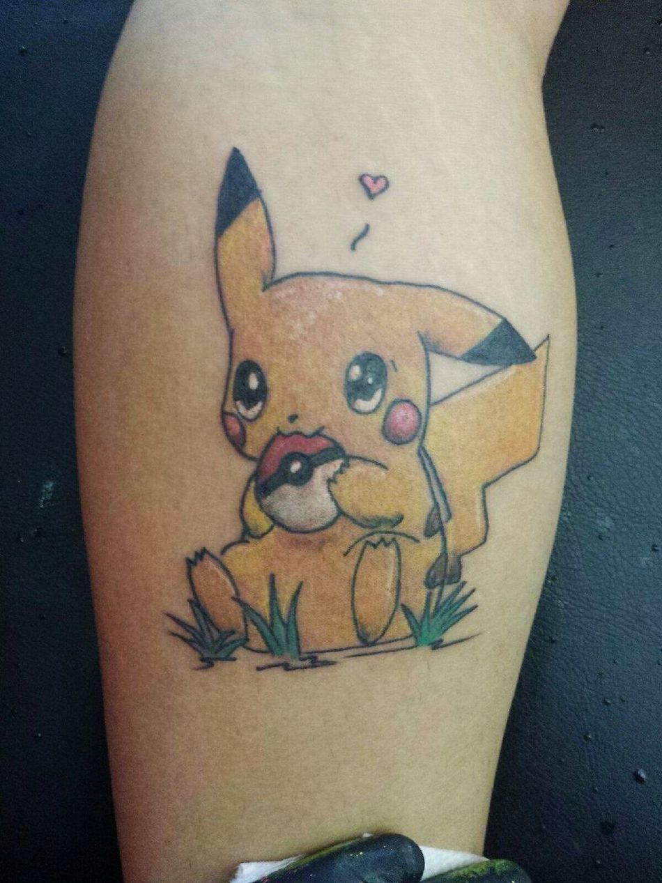 Tattoosbyniko Color Bomb Tattoo Pokemon♥♥♥♥ Pikachu