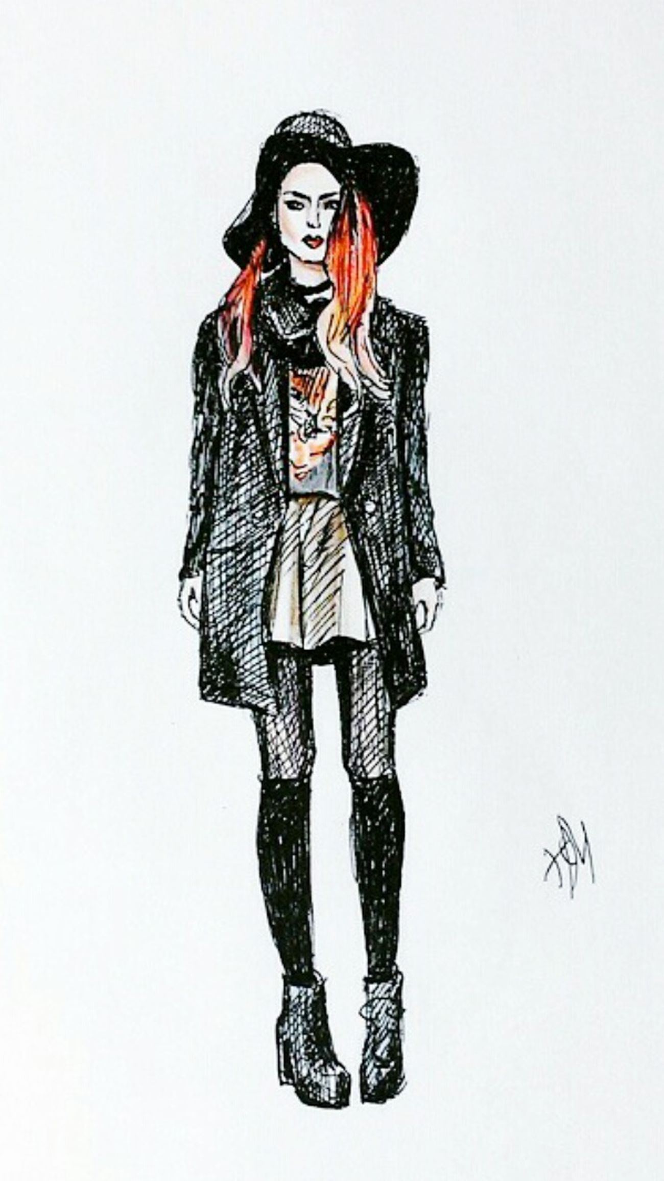 Quicksketch Oldwork Graphics Fashionillustration