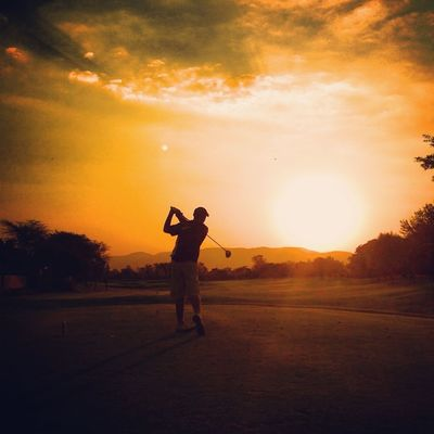 Golfing at Pecanwood College by Francois Malherbe