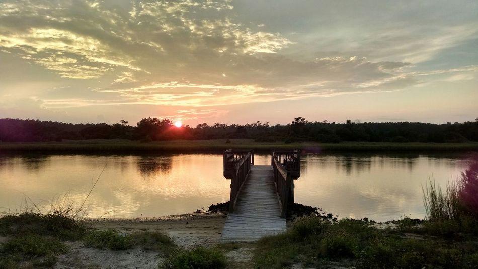 A thing isn't beautiful because it lasts. Pawleysisland SC Sun Sunset Landscape Creek Southcarolina Beauty Noedit Peace