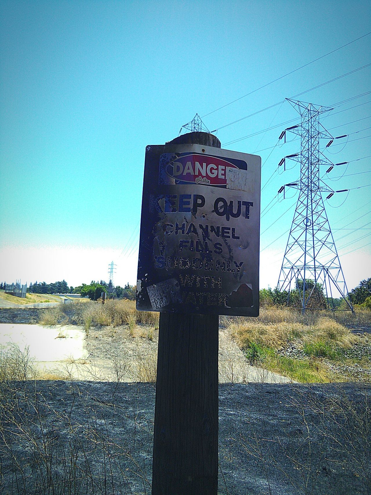 Fire Scorched Sign Electricity Wires And Cables Electricity Pylons Power Lines Against Sky Electricity Pylons High Voltage Electricity Wires Trees And Nature Nature Trail My Photography Trees Trees And Bushes Sacramento, California Trees And Sky Trail Taking Photos ❤ Sign Walking Around