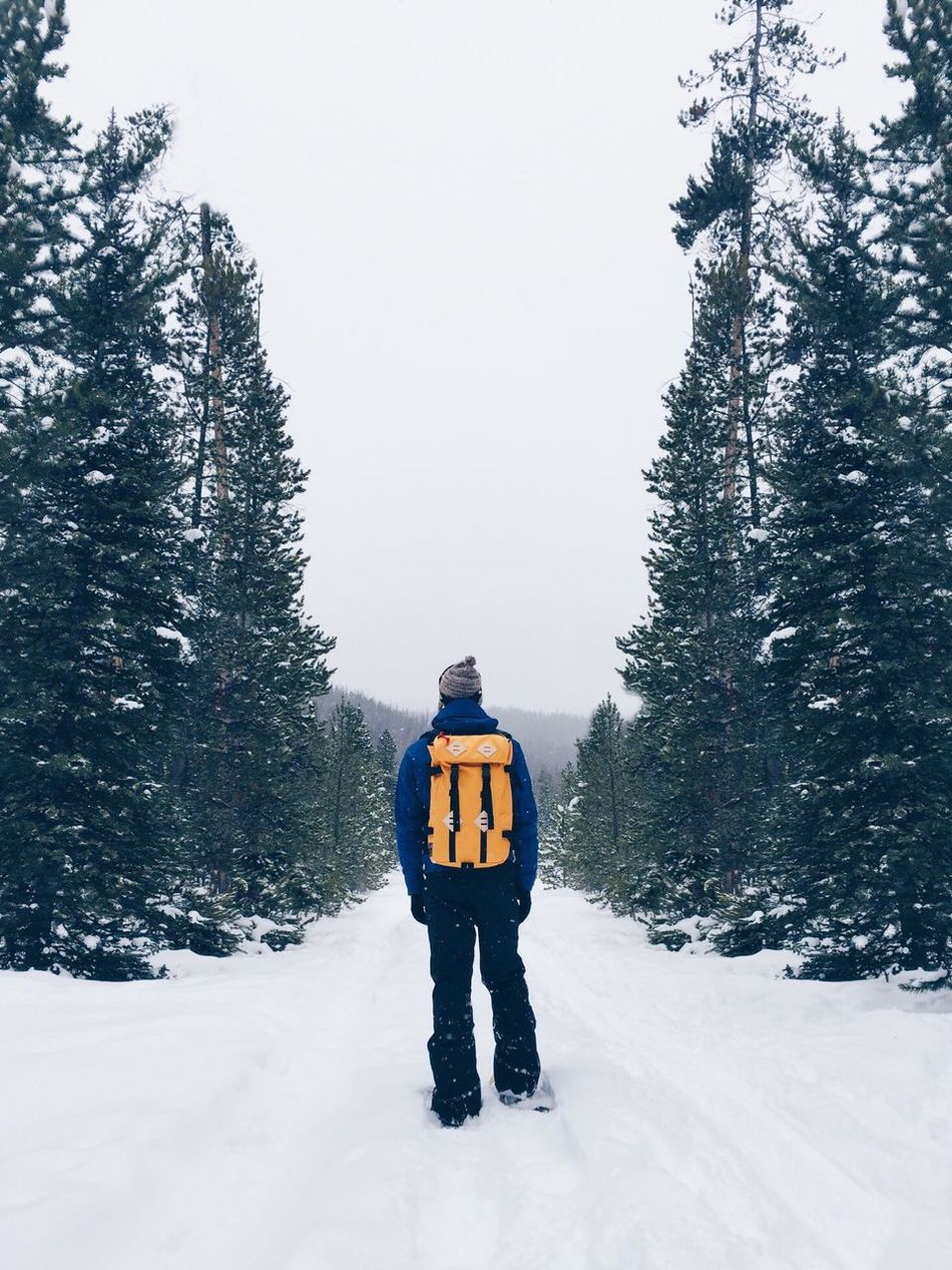 Beautiful stock photos of nature, Adventure, Backpack, Clear Sky, Cold Temperature