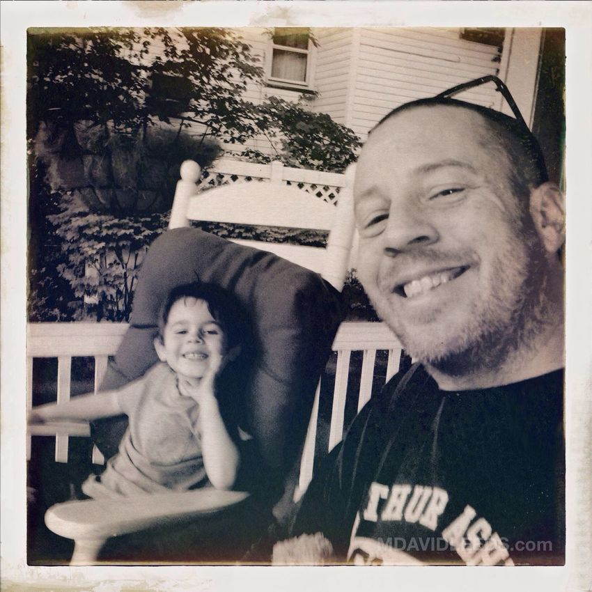 Rocking on the porch after an excellent dinner.. a perfect end to a very Happy Daddy's Day! Blackandwhite Mdavidleeds Photos