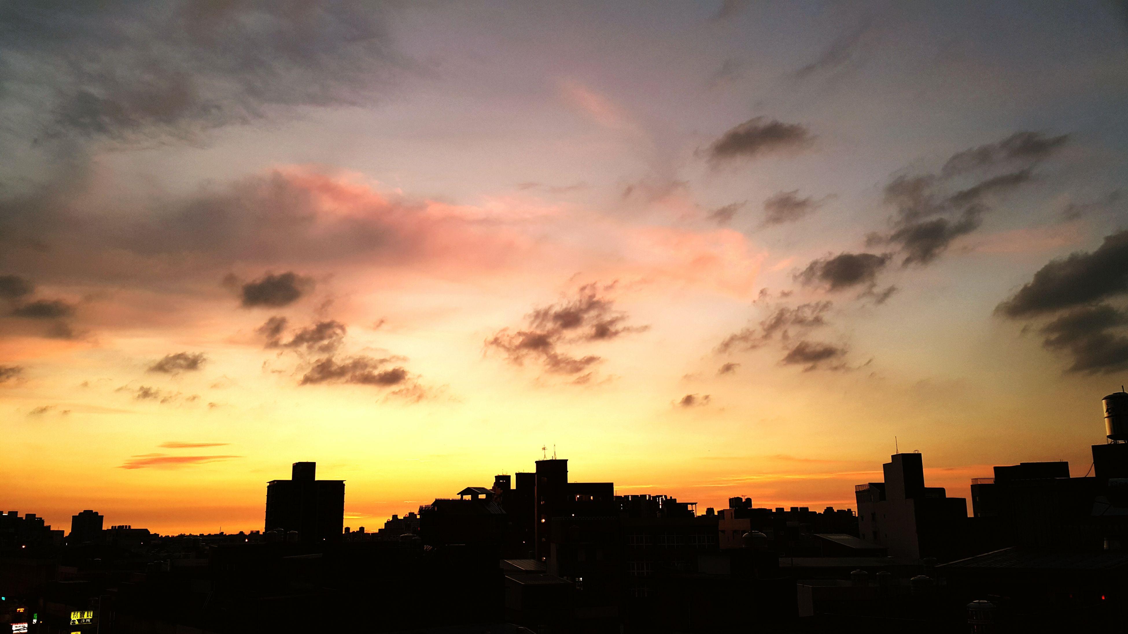 sunset, silhouette, building exterior, architecture, built structure, orange color, sky, city, cloud - sky, dramatic sky, cityscape, dark, beauty in nature, scenics, nature, outdoors, cloud, outline, dusk, no people