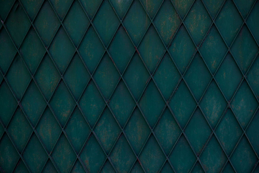 Abstract Architecture Backgrounds Close-up Construction Dark Day Fence Full Frame Green Grid Industry Material Metal Gates Nature No People Outdoors Pattern Pattern, Texture, Shape And Form Seamless Pattern Textile Textured  Urban