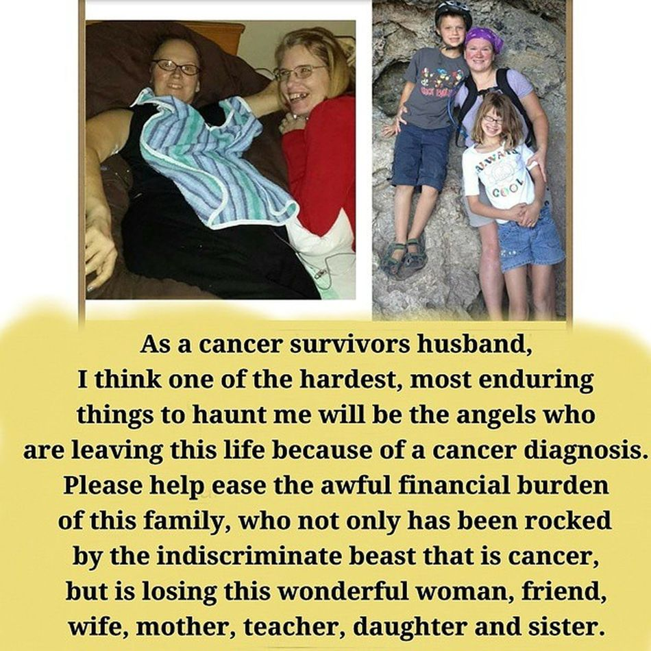 Today friends and family say good bye to a wonderful woman who was taken far too soon. First I'd like to thank the people that have donated. You are amazing! Even if its $5 and sharing this, it would be of great help. Please help them in anyway you can. Please help my friends family deal with the sudden and heart braking diagnosis of their mother/wife has received. This came out of no where and hit fast and hard. Please share and remember every cent counts! Literally there is no amout to low that will help them in this very taxing and trying time. http://www.youcaring.com/memorial-fundraiser/kelly-wegenka-s-final-expenses/305582 .VNt9eINl1Oo.facebook There is also a link on my profile Cancer Cancersux Fucancer Finalexpense Pleasehelp Donation Familyinneed Rip Softtissuesarcoma Takentoearly Payitforward Randomactsofkindness Rip