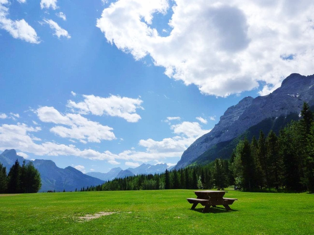 What A Sky! What A Wonderful World What A Beautiful Day Landscape Blue Green Kananaskis Alberta in Canada