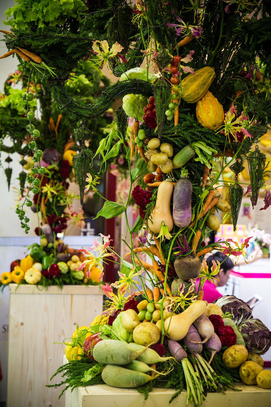 Food For Health Exhibition Adorn ArtWork Healthy Healthy Food Nature Organic Plant Vegetables