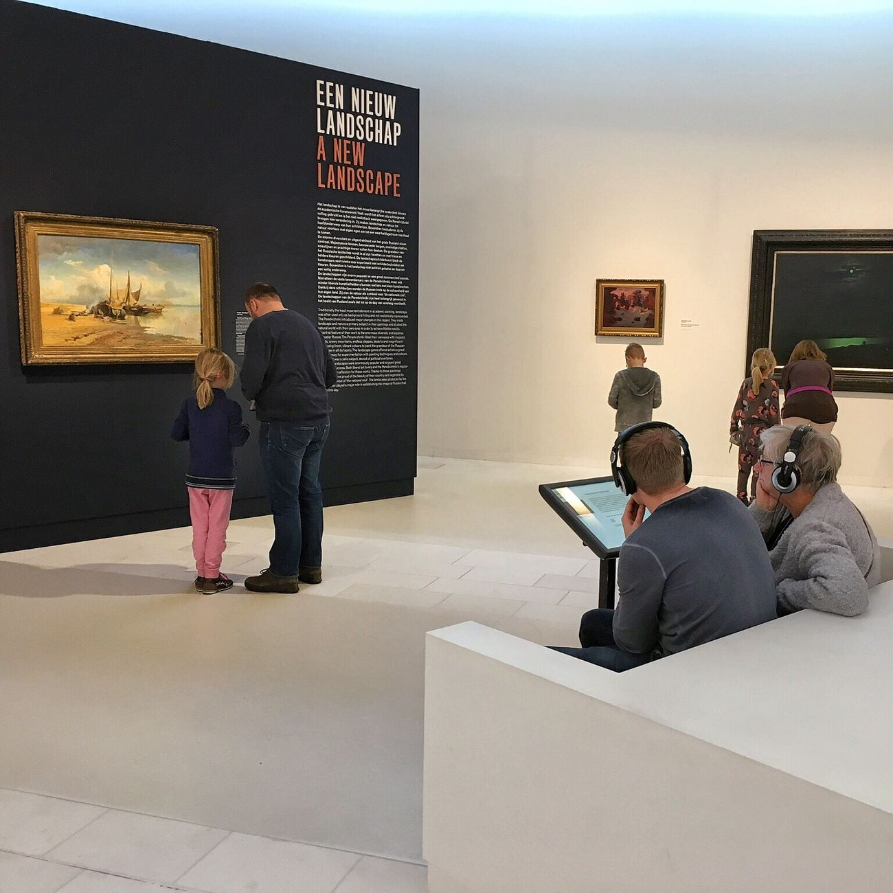 Full Length Communication Archival Sitting Standing Indoors  Technology Adults Only Only Men Men Real People People Adult Businessman Well-dressed Day Exhibition Drentsmuseum Asser Museum Painting