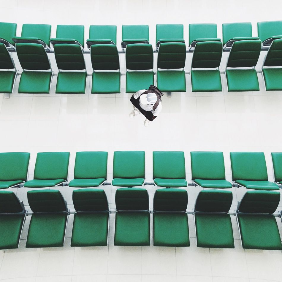 Beautiful stock photos of airport, Cap, Chair, Directly Above, Empty