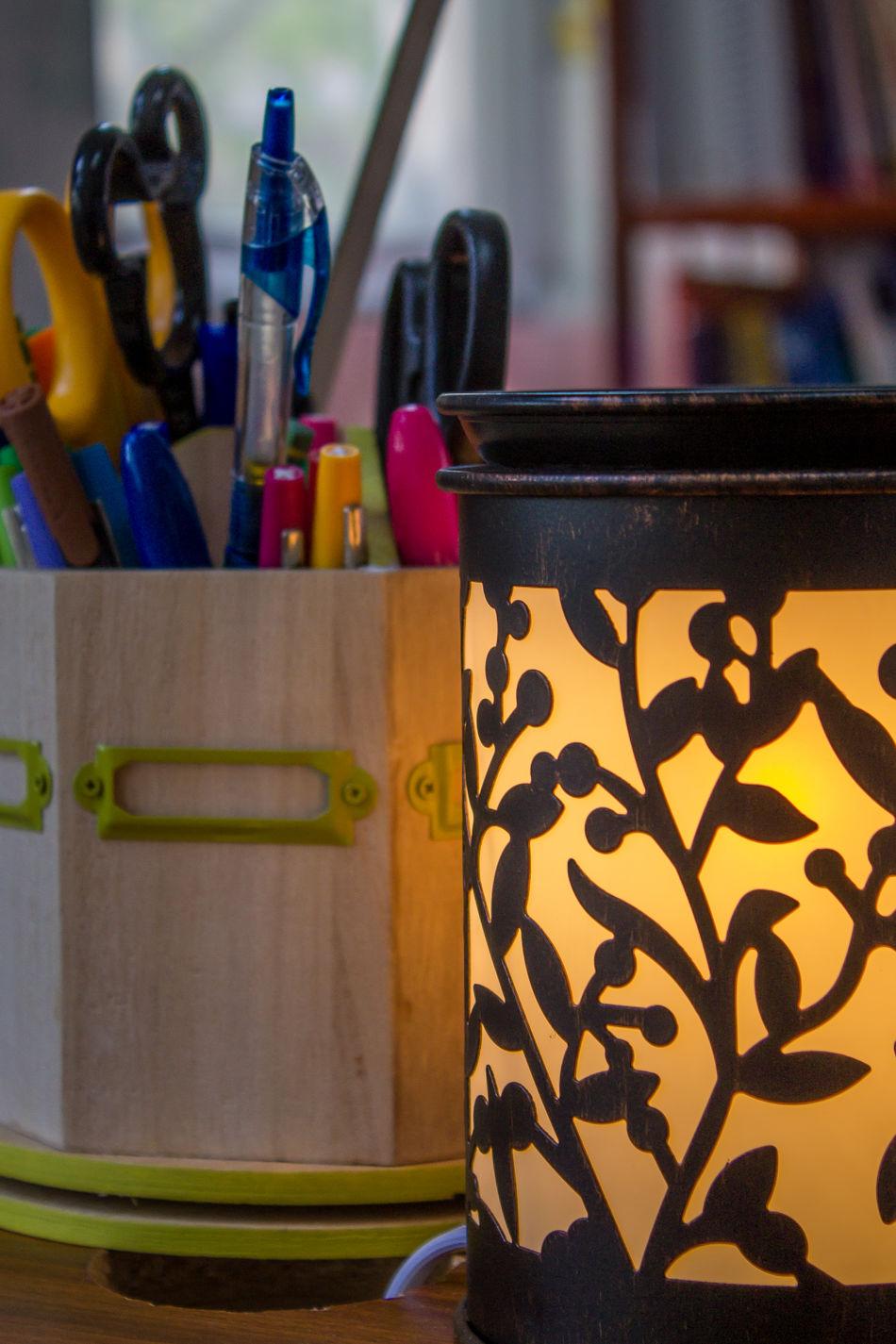 Candlelight Close-up Day Desk Organizer Glow Indoors  No People Office Office Desk Pens Principal School Desk Sentsy Zhuhai
