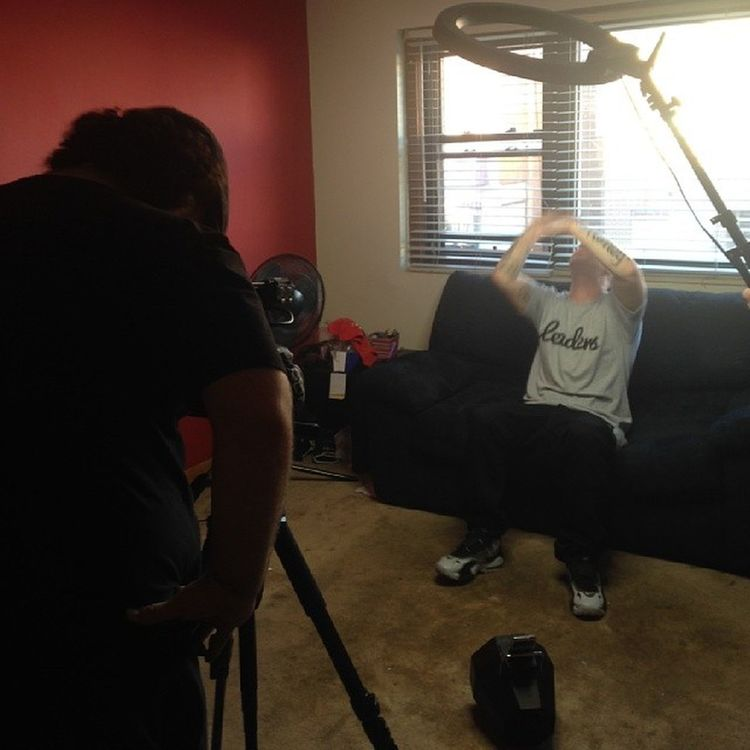 Some more behind the scenes shots from KnowMyStruggle video shoot