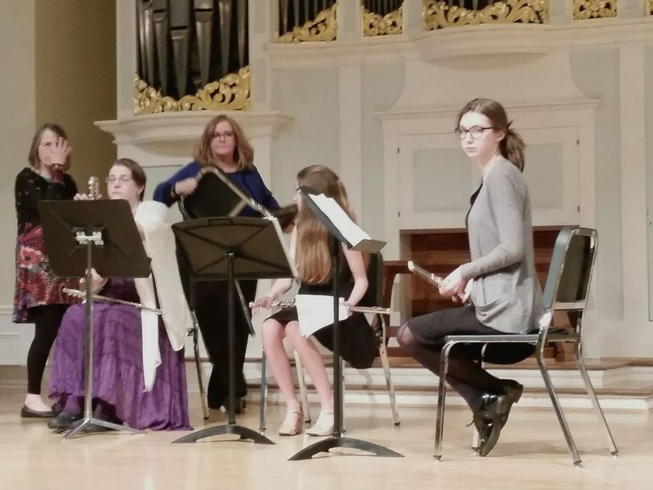 Why am I here?... Young Adult Leisure Activity Lifestyles Music Looking At Camera Flautist Sitting Flautist Recital My Daughter