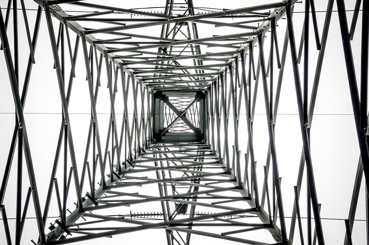 Close-Up Low Angle View Of Grid Structure