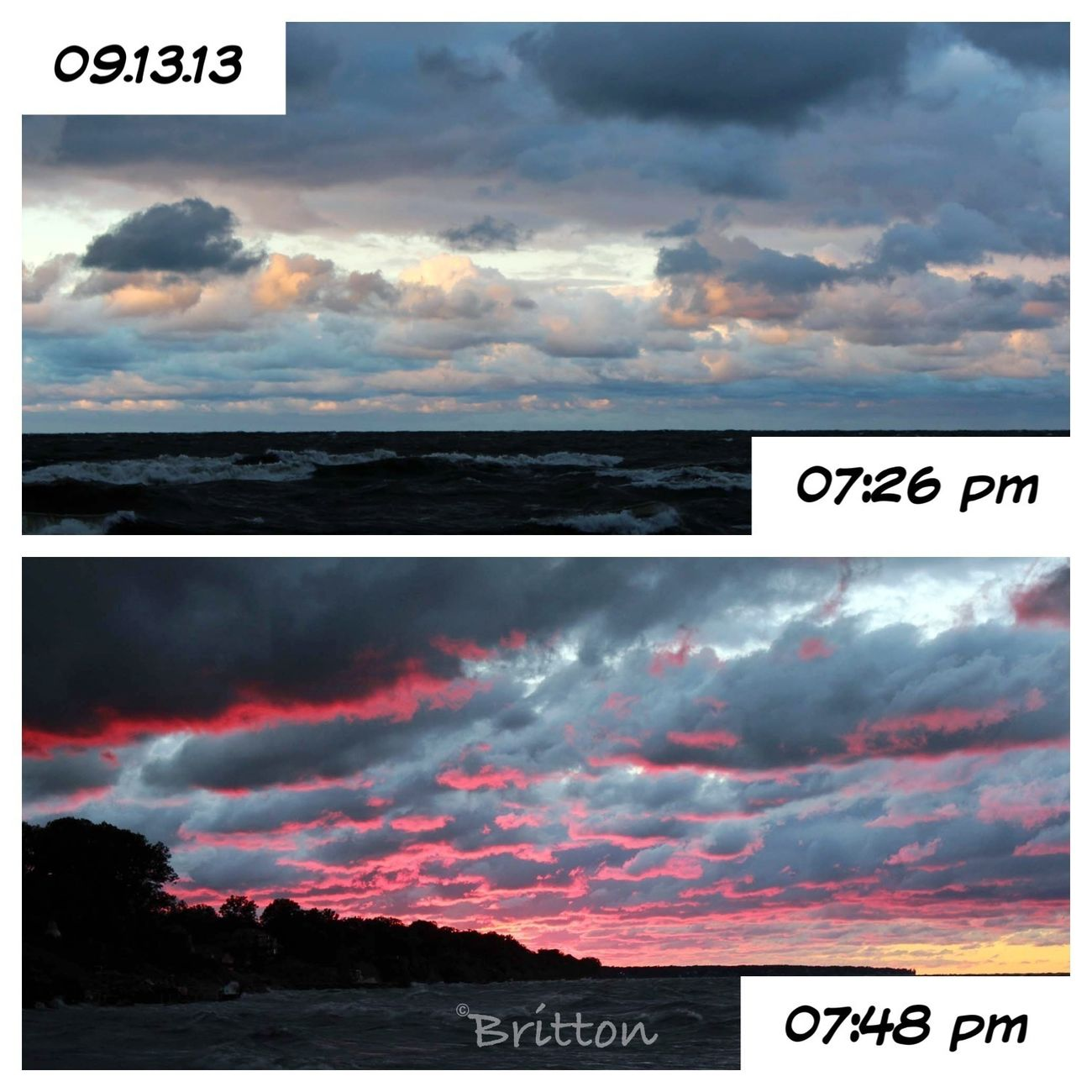 13Sept2013 - Sunset on Lake Erie - What a difference a few minutes makes. Sun_collection Skyporn Water_collection EyeEm Nature Lover