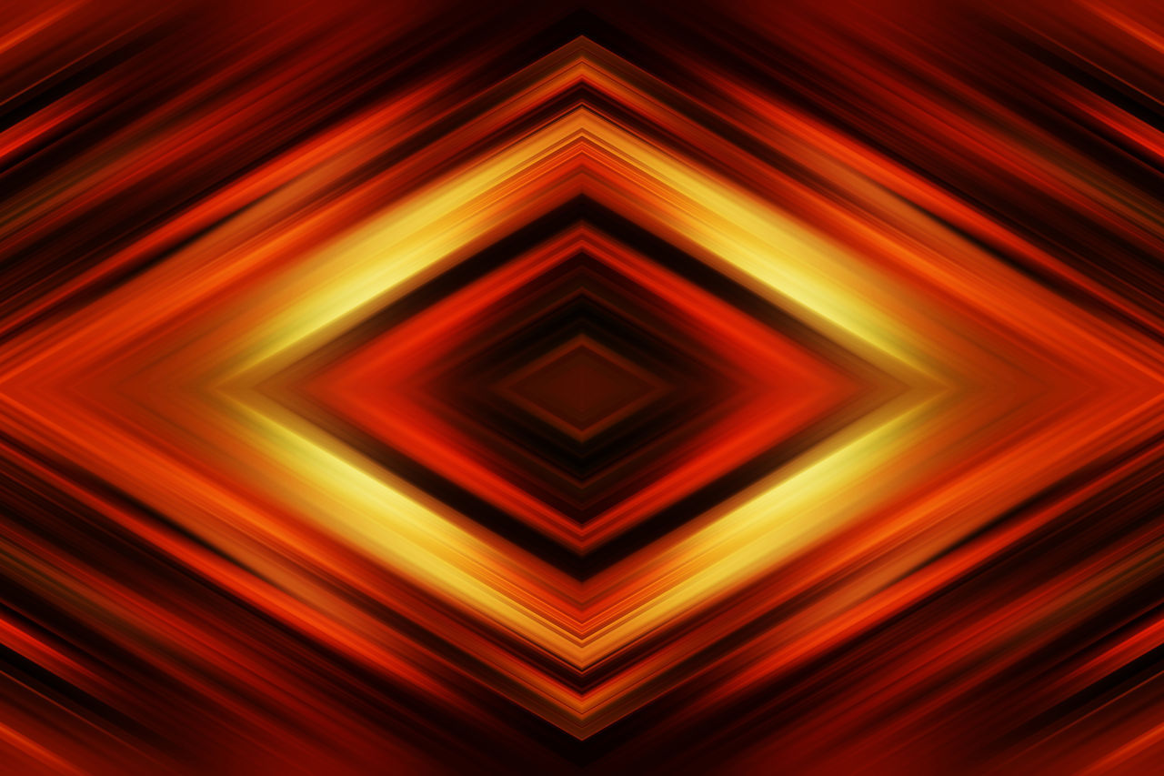 backgrounds, geometric shape, pattern, abstract, full frame, illuminated, symmetry, no people, red, geometry, close-up