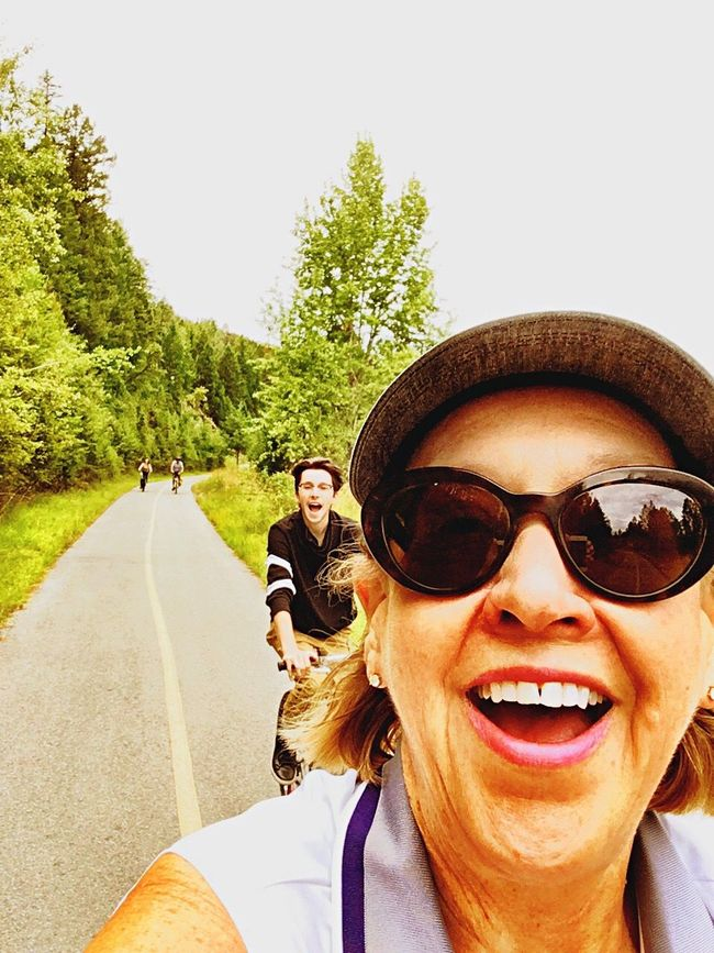 CyclingUnites Sunglasses Vertical Fun Happiness Two People Togetherness Friendship Smiling Day Outdoors Cheerful Capturing Motion Leisure Biking Active Exercise