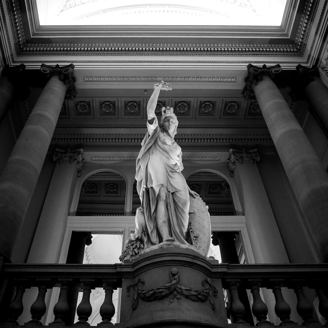 Architectural Column Architecture Art Black And White Black And White Photography Blackandwhite Columns Fine Art Fine Art Photography Historic History Human Representation Low Angle View No People Ornate Palace Roman Sculpture Squaready Squareinstapic Statue Tourism Travel Travel Destinations Traveling