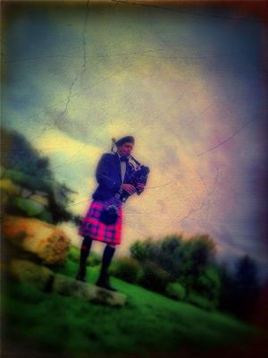 bag Pipes by Paul Toussaint