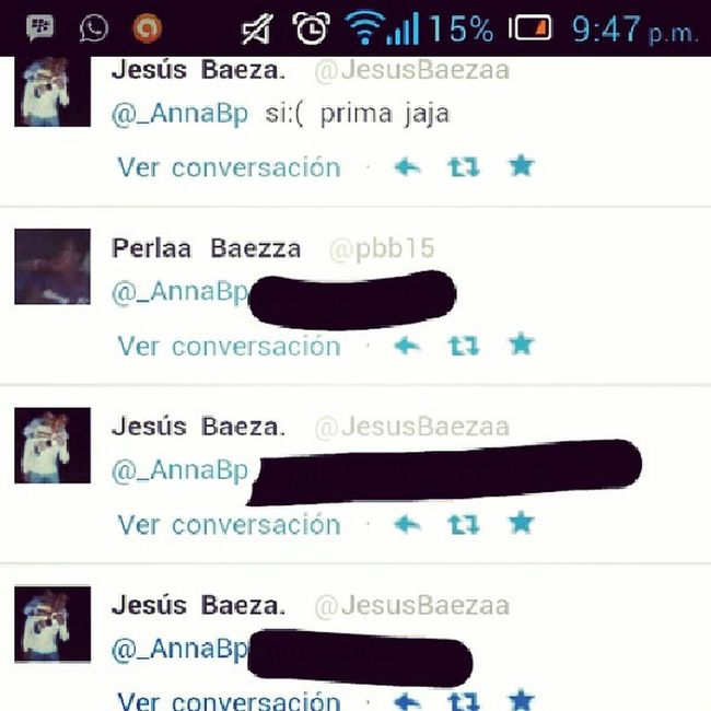 Mi tw Menciones de Solo Baeza 'S ellos mis primos :33