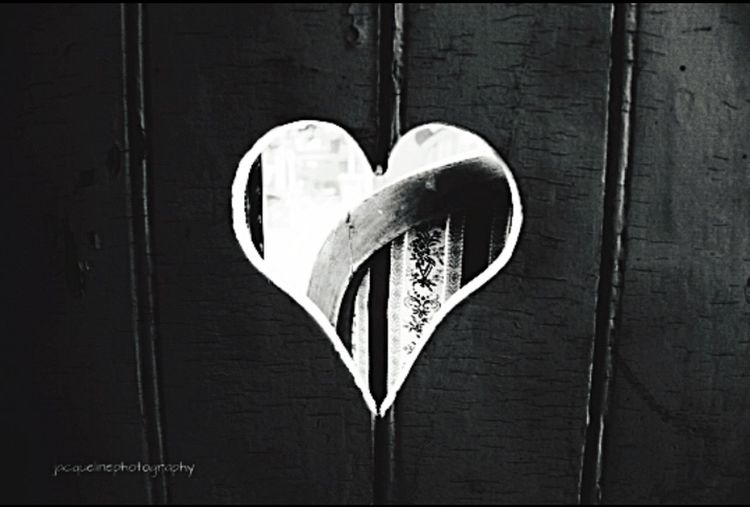 Heart Shape Love No People Close-up Day Indoors  EyeEmNewHere Bw-collection Blackandwhitephotography Heartshaped City Store Decor Urbanlifestyle