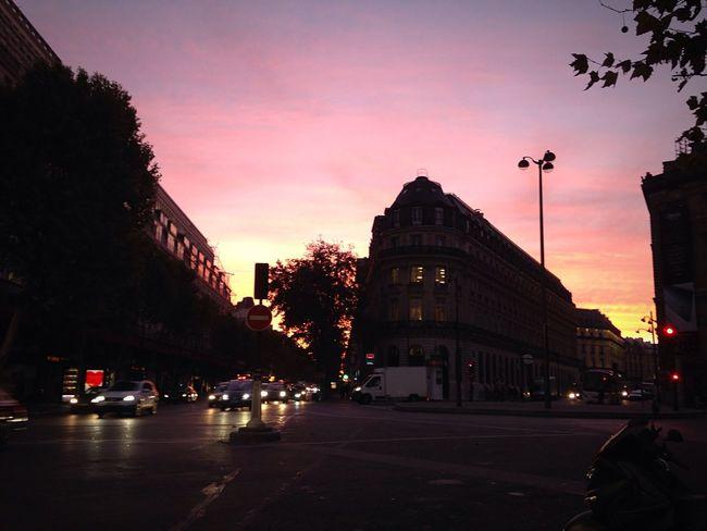 Paris Sunrise In Town Sky Colors Big City Life